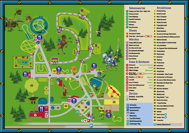 Ritter Rost Magic Park Parkplan